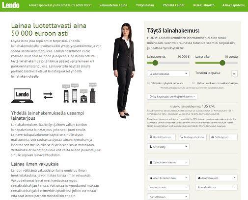 Lendo.fi - lainaa aina ilman vakuuksia ja takaajia luotettavasti 500 - 50.000 euroa!