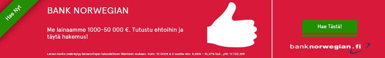Bank Norwegian on uusi edullinen nettipankki, josta saat nyt lainaa heti tilille ilman vakuuksia!