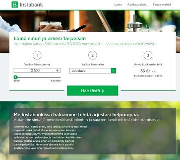Instabank -pankkilainan tarkoitus on tehdä jokaisen kuluttajan arjesta yksinkertaisempaa ja helpompaa